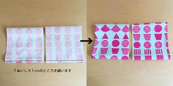 袖の部分は、筒状に作ってから身頃に縫い付けます。