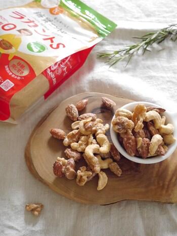 良質な油(不飽和脂肪酸)が多く含まれているナッツ類はダイエット中のおやつとして人気があります。甘さを求めたい人は、カロリーゼロの砂糖を使って自宅で糖衣ナッツを作ってみましょう。
