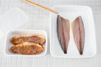 浅めなのでバットとして、調理時に下ごしらえをする際に重宝する「レクタングル浅型」。