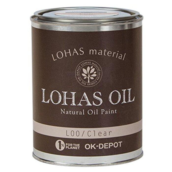 LOHAS material 木部用国産自然塗料 ロハスオイル ダークブラウン 0.75L