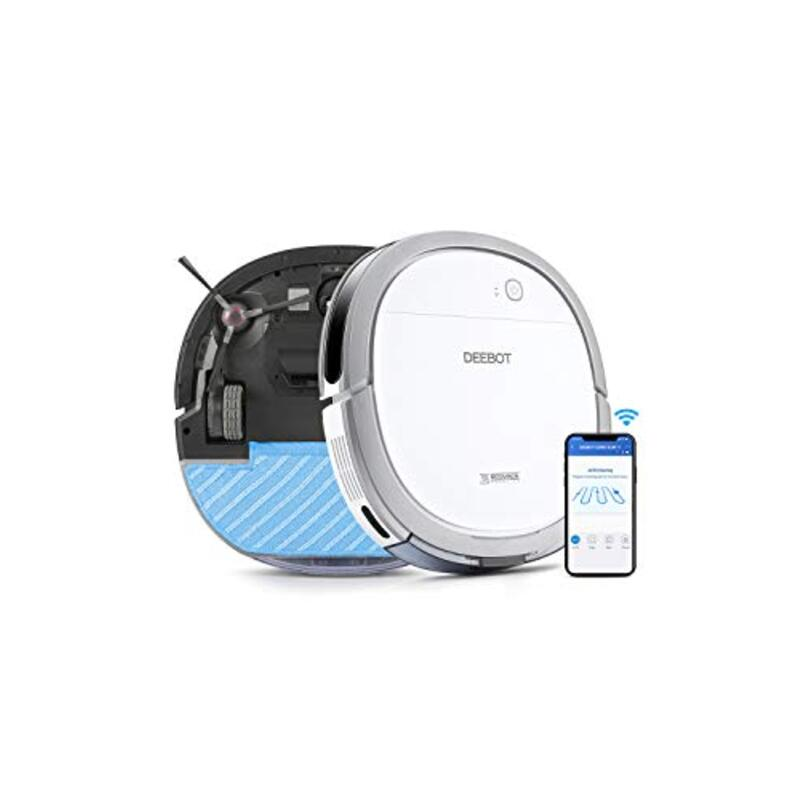 【5.7cm超薄型】DEEBOT OZMO Slim11 エコバックス ロボット掃除機 Alexa対応 ホワイト