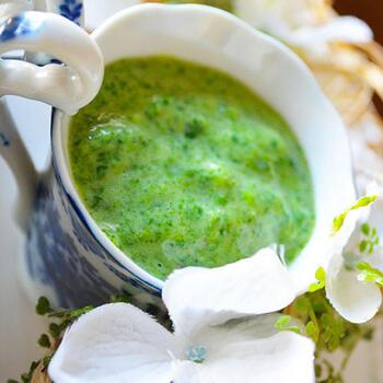 今話題のホットスムージーは、朝の一杯におすすめ。ハンドブレンダーで作れちゃいます。風邪&疲労&便秘予防にも◎ほうれん草キライのお子様にも喜んでもらえるはず♪