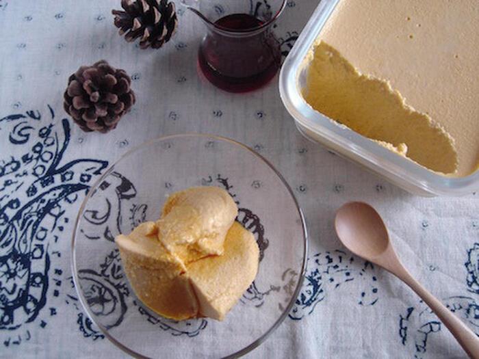 繊維質が少なく口当たりもなめらかでポタージュに最適なバターナッツ。かぼちゃにより甘味が異なるので、砂糖の量を調整しながら作ると好みの味に仕上がります。
