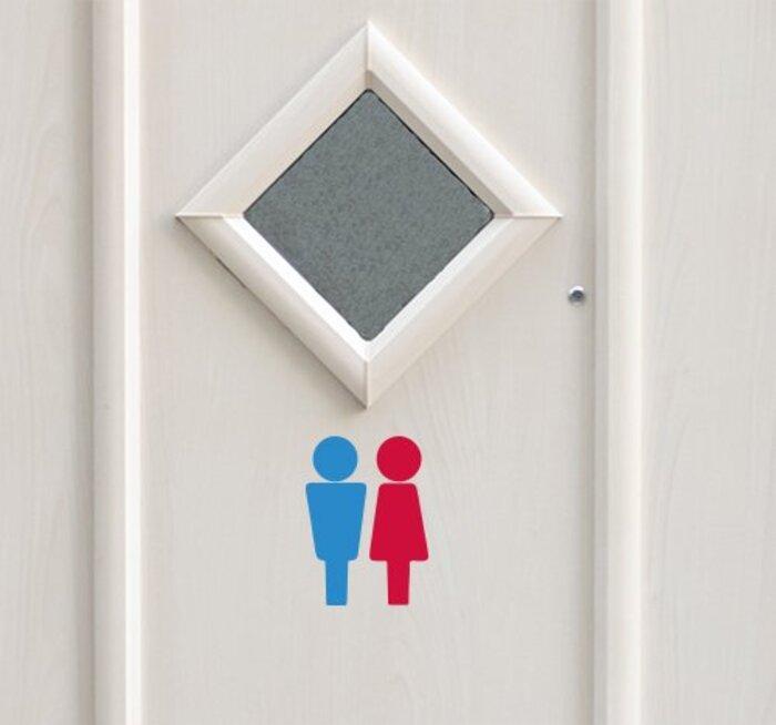トイレ サイン (男女1セット) ウォールステッカー