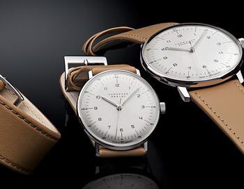 こちらも時間のわかりやすさを最大限追求した腕時計。こちらは、短針の文字を内側に配置したことでより直観的に時間がわかりやすくなっています。機能を追求した結果のどこか繊細なデザインが大人っぽいですね。