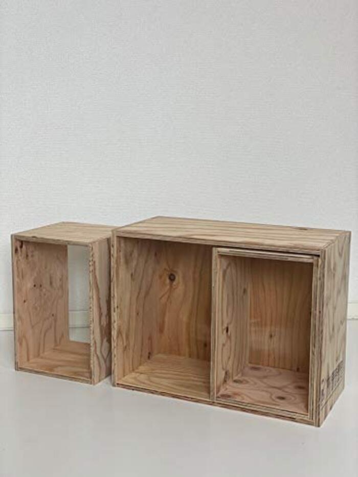 【イエノLabo.】シェルフ3点セット 本棚 収納 キューブボックス
