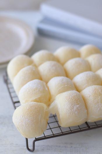 翌日も柔らかい、ふわふわのちぎりパン。口溶けもいいので、小さなお子さんも食べやすいですね。