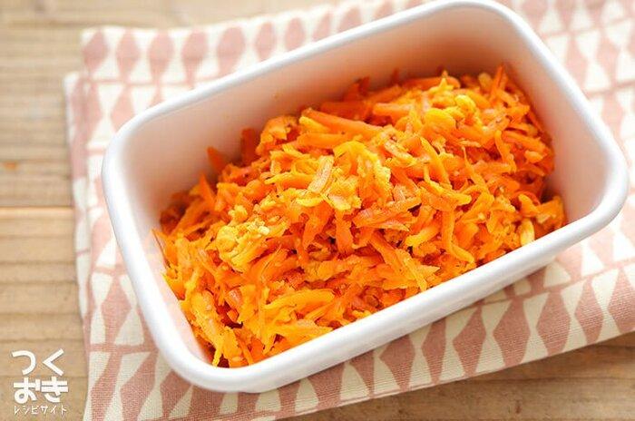 だしを効かせれば、にんじん特有のクセを和らげることができるので、子供のお弁当にもおすすめ。常備菜として、冷蔵保存で4日ほど持ちますよ。