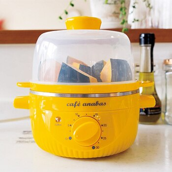 蒸し野菜やゆで卵もセットするだけでおまかせできる蒸し器。お湯を沸かす必要もないので、すき間時間にセットしておけばあとはおまかせ。忙しい日も、温野菜が食べられますね。