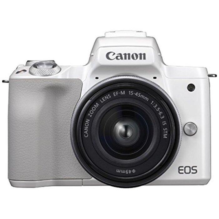 キヤノン EOS Kiss M 【EF-M15-45 IS STM レンズキット】 (ホワイト/ミラーレス一眼カメラ)