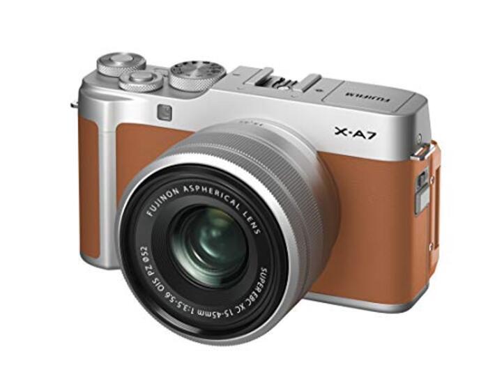 FUJIFILM ミラーレス一眼カメラ X-A7レンズキット キャメル X-A7LK-CA