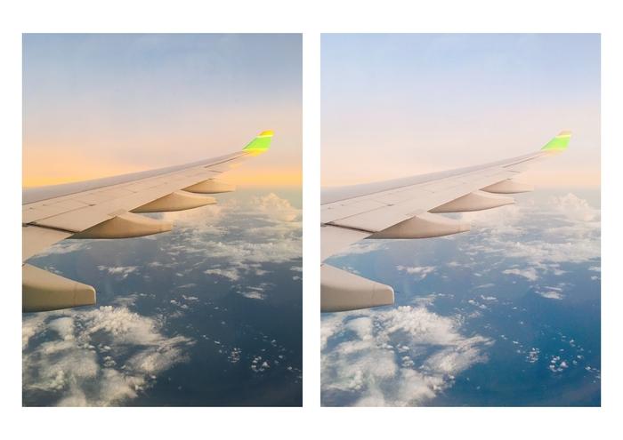 もちろんFoodieは食べ物以外の写真にも使えます♪こちらもスマホ写真を加工してみました。右のアフター写真は、より非日常的な雰囲気に仕上がりました。
