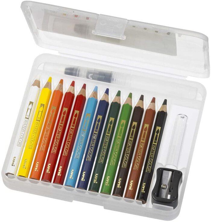 三菱鉛筆 水彩色鉛筆 ユニウォーターカラーコンパクト 12色 第1章 UWCNCS12C1
