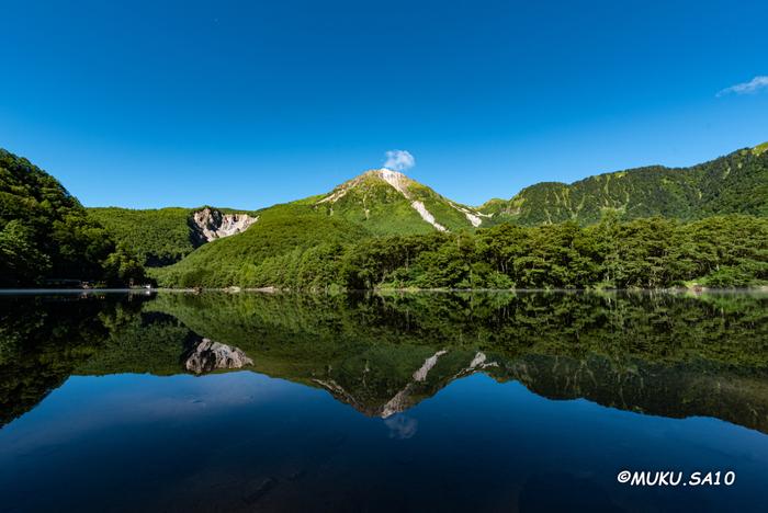 大正池は、国の特別名勝・特別天然記念物に指定されている高原、上高地にある池です。