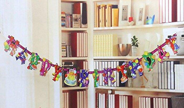 【ELEEJE】 HAPPY BIRTHDAY ガーランド & 音楽 付き バースデー カード セット 誕生日 パーティー 飾り付け ギフト ( 4種類 ) (パーティー)