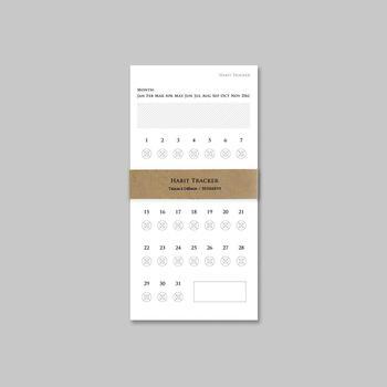"""1枚で1ヶ月間記録できるミニマムなチェックシート。目標を書き込んで""""がんばりカード""""として使っても。"""