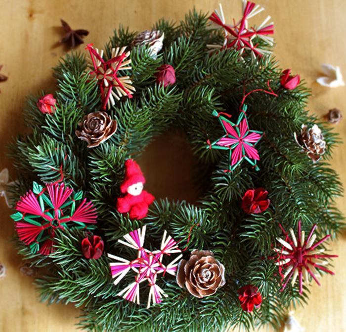 自分で作る簡単キット*クリスマス*ストローオーナメントリース