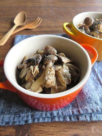 《秋の食卓》きのこご飯&きのこパスタ&作り置きレシピ