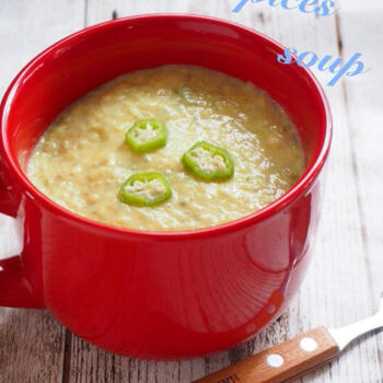 変化をつけたい時は、オクラのとろみを活かしたこちらのレシピがおすすめ。豆乳で煮て味噌とカレー粉で味つけした、個性派ながらもクセになる味わいがポイントです。