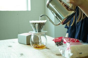 じっくりハンドドリップしたコーヒーを楽しむ、優雅で贅沢な休日はいかが?