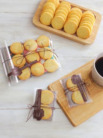 いただいたクッキーに心のこもったメッセージが添えられていたら、喜びもひとしお。メッセージカードはOP袋に入れれば台紙の代わりにもなり一石二鳥です。