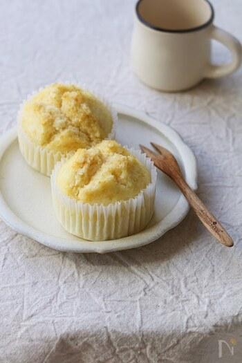 優しい甘さが美味しい牛乳蒸しパン。牛乳を加えることでしっとりとした仕上がりになります。