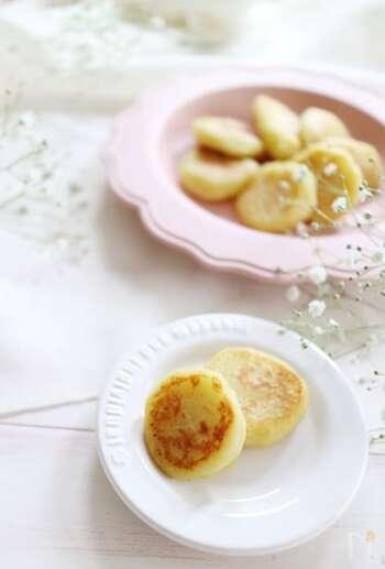 離乳食後半から食べられる、スイートポテトのおやき。粉ミルクを使っているので、やさしい甘さで栄養満点。余った粉ミルクの消費にもおすすめです。