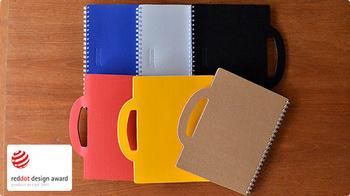 デザイン性はもちろん、90%以上の古紙を再利用し環境に配慮している点も◎遊び心のあるポップなカラーを含めた6色展開です。