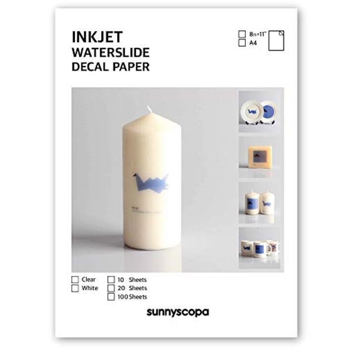 Sunnyscopa 自分で作るインクジェット用転写シート クリア (A4 20枚)