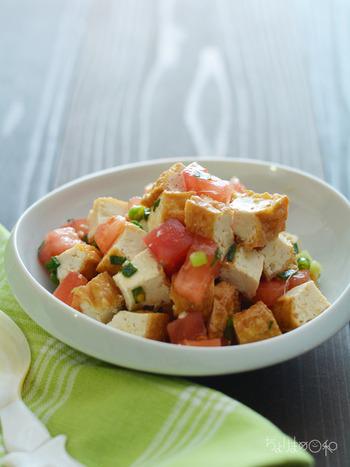 シンプルな味の厚揚げは、エスニック調味料との相性も抜群です!お砂糖を加えて、やや甘めに仕上げるのがコツ。生姜の爽やかな香りで、和食の副菜としてもおすすめですよ。