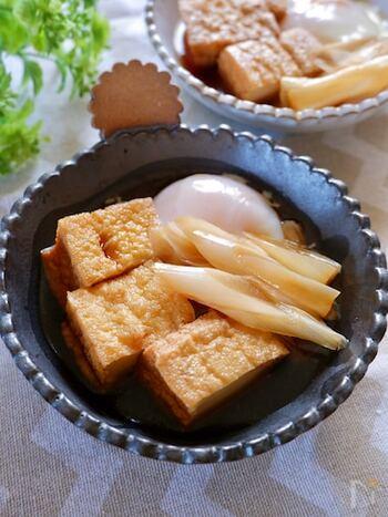 すき焼き風の味つけで煮るだけで、子どもにも人気のメニューに。作業時間はたったの5分。あとは放っておくだけで味が染み、温泉卵ができるのでかなり手軽でおすすめです。