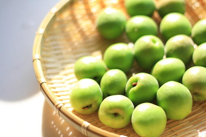 種を取った梅の実を120℃のオーブンでお好みのかたさに乾燥させます。梅の旨みがギュッと凝縮します。