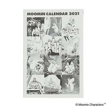 こちらは毎年人気のタブロイドムーミンカレンダーです。ムーミンの作者、トーベ・ヤンソンがタブロイド紙に作品を掲載していたことから、ブラックインクで印刷したタブロイド風のカレンダーができあがりました。  書籍で使われるざっくりとした古紙100%中質紙を採用し、ラフな雰囲気が醸し出されています。