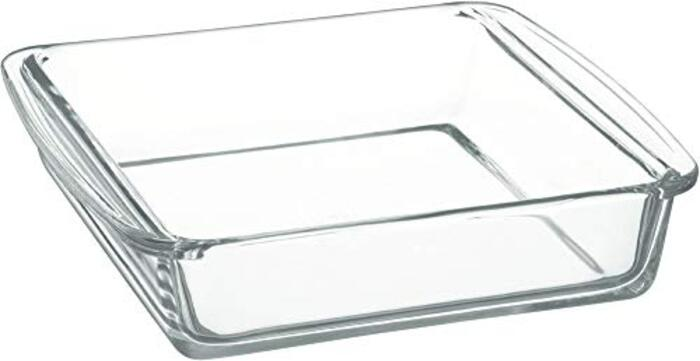 iwaki(イワキ) 耐熱ガラス ケーキ型 ケーキ焼き皿 角型 25.5×21×6cm KBC222