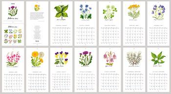 それぞれ一種類の植物を大きく描いているので、単体のイラストとしても楽しめます。
