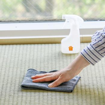 水だけで汚れやミクロな菌までも取り除くMQ-Duotexのニットクロス。世界30か国のプロに選ばれているだけあり、その品質はお墨付き。  ハイハイする赤ちゃんやペットがいる家庭で、床に洗剤に使いたいくないという時もこちらのクロスでお掃除すれば安心。