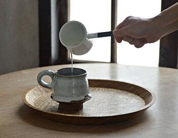 ココアを作ったり、カフェオレのミルクを温めたりとティータイムに大活躍。ほかにはゆで卵作りや、離乳食などさまざまなシーンのちょっと使いにもぴったりです。サラダ用のドレッシングを入れて、そのまま食卓に出しても◎