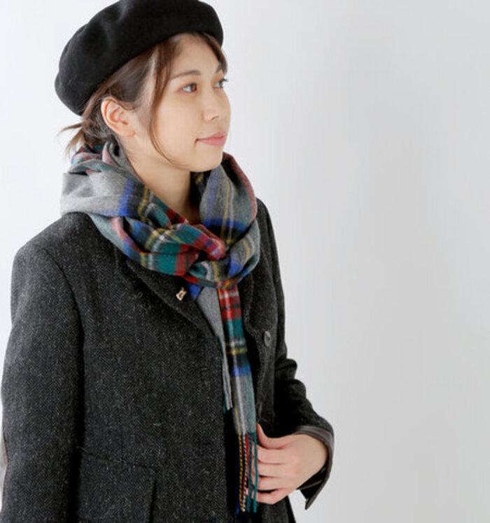 【楽天市場】TWEEDMILL タータンチェックラムズウールストール 25-190-yh:aranciato