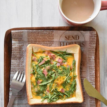 食パンで簡単!「キッシュトースト」でごちそうモーニング