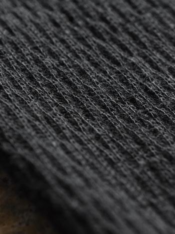 こまやかな編み目がぴったりと体にフィットしてもたつきません。リラックスしながらも凛としていたい、そんな日に身につけたくなるアイテムです。