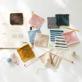 これまで棒針編みの初心者さん向けの本を買ったけどよくわからないという方におすすめの、楽しくステップアップできる、いちばんやさしい棒針編みキット。しかも6種類の中から毎月1回、1種類ずつ届くので、ゆっくり学ぶことができます。