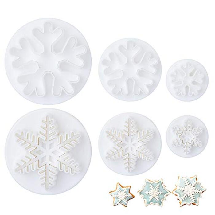 LIHAO クリスマスクッキー型 6点セット雪の結晶