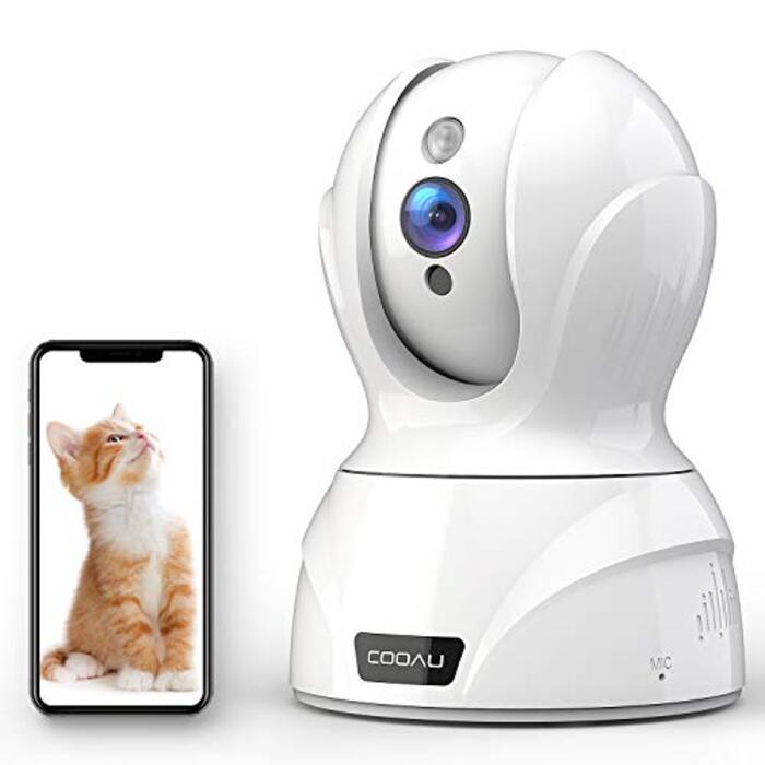 【2020最新型500万画素】COOAU ネットワークカメラ IP監視防犯(白色)