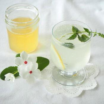 こちらはレモングラスとカルダモンで作るコーディアルレシピ。半日置く程度でできるので手軽なのも嬉しいポイント。さっぱり炭酸で割って召し上がれ♪