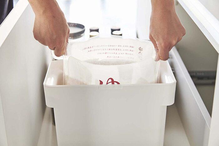 山崎実業 米びつ 密閉 袋ごと米びつ 5kg