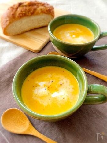 にんじんは柔らかくなるまで煮ることで驚くほど甘くなり、生クリームにも負けない豊潤な味わいに。鮮やかなオレンジ色はテーブルの彩りにもなります。