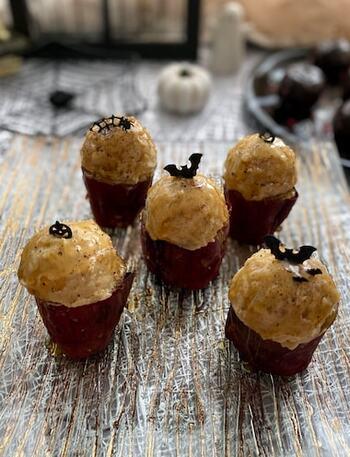 焼き芋さえあれば、後は材料を混ぜて盛り付けるだけ!マスカルポーネ、生クリーム、ラム酒の風味が絶品で、大人も楽しめるスイーツです。