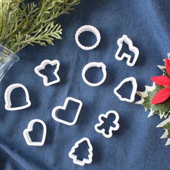 クリスマスシーズンに作りたい、クリスマスモチーフのクッキー。靴下型もとってもキュート。何種類か作って、ラッピングすればちょっとしたプレゼントにも使えます。