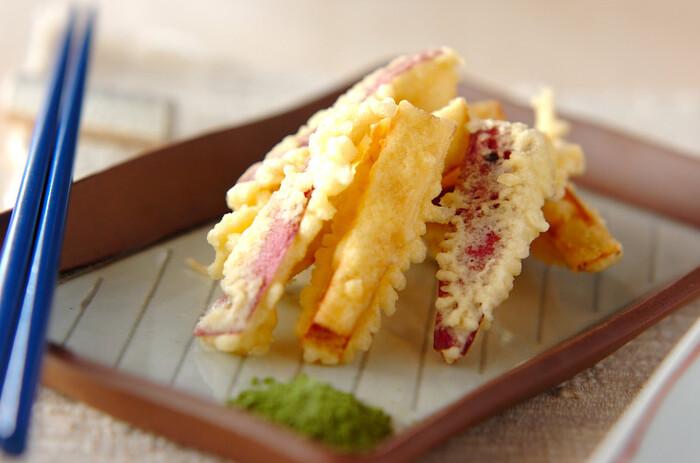 ホクホクのお芋は、天ぷらなどのお料理にも大活躍!秋の食卓に欠かせない存在です。