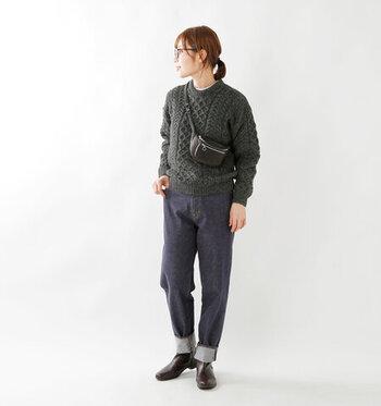 ベーシックなデザインのセーターは、手頃な価格で手に入れてヘビロテしたり、着心地や素材にこだわって愛着の沸く相棒を見つけるとgood。ケーブル編みのセーターは、カジュアルコーデをいつでも手軽にセンスアップしてくれる強い味方です。